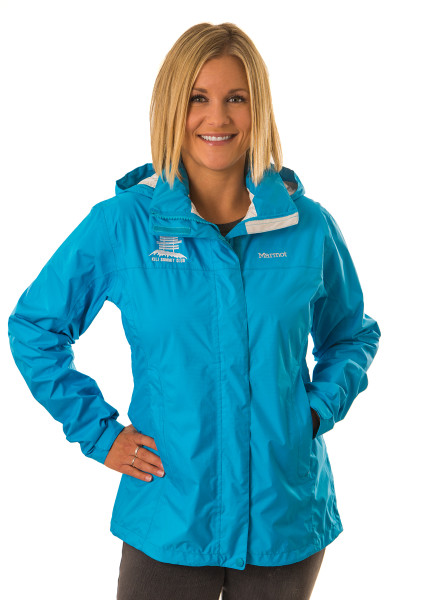 women's marmot preclip jacket -- blue